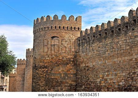 Surrounded wall of Baku old town Azerbaijan