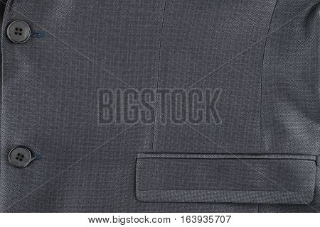 Texture of the classic jacket with pocket and buttons with space for your text