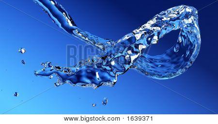 Flusso di acqua che scorre