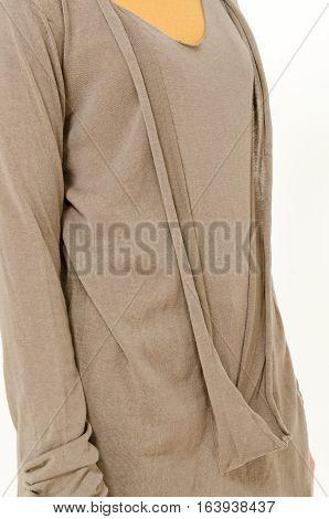 Fashion clothes display - studio shoot on plain background
