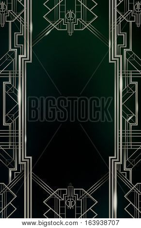 Retro Vintage Silver Great Gatsby Background Texture