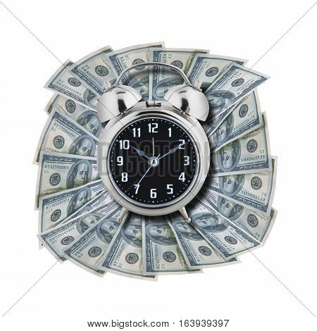 Time is money isolated on white background with clipping path