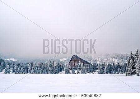 Winter in High Tatras Mountains. High Tatry. Slovakia