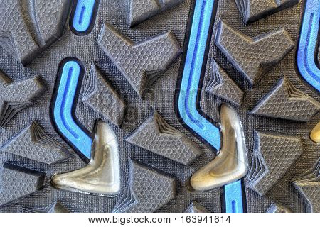 Grip technology for trekking shoes close up
