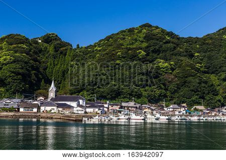 beautiful Sakitsu Church in Amakusa, Kyushu, Japan