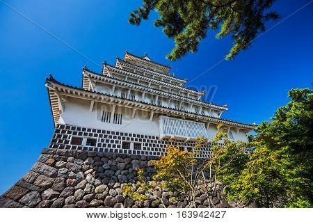 beautiful Shimabara castle in Nagasaki Prefecture, Kyushu