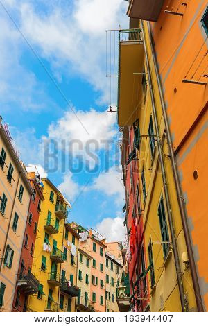Alley In Riomaggiore, Cinque Terre, Italy