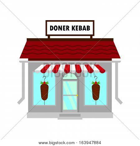 Doner kebab shawarma fast food cafe restaurant facade
