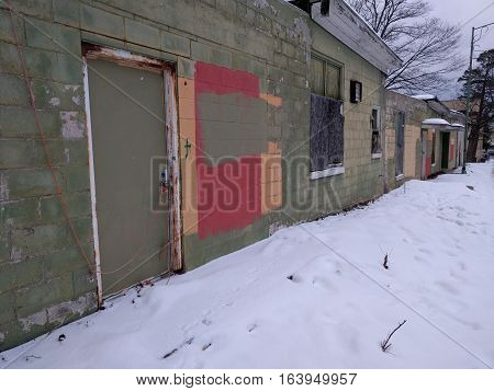 Low Income Housing District and Abandoned Houses