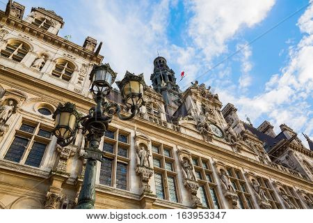 Hotel De Ville In Paris, France