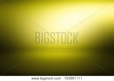 3D illustration, yellow gradient background. gradient flat wall and floor in empty spacious room. yellow empty room studio gradient used for background and display your product