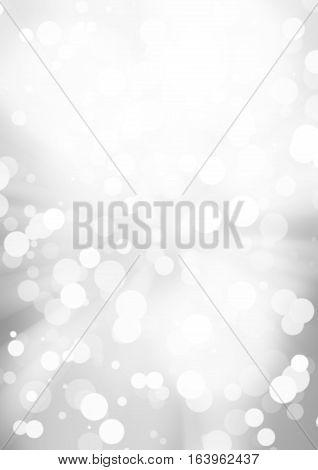 white bokeh blur background / Circle light on gray background / abstract light background