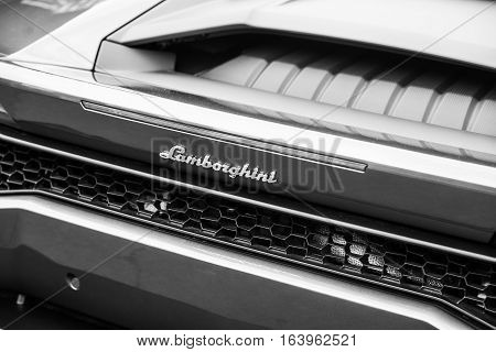 Wroclaw, Poland  - July 9 :close Up On  Lamborghini Sign On Raceism Event 2016 On July 9 ,wroclaw, P