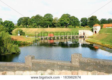 Entrance to the citadel of Castellet. Copenhagen Denmark