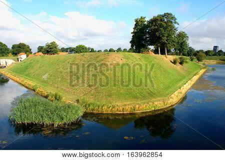 water around the citadel of Castellet in Copenhagen Denmark