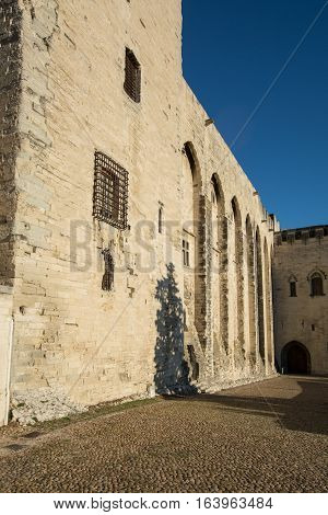 Palais des Papes in Avignon a UNESCO heritage site France