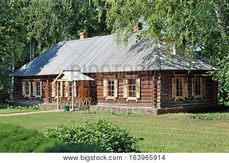 TARKHANI RUSSIA - AUGUST 28 2016: Steward house in Lermontov estate. State Lermontov Museum-Reserve Tarkhany