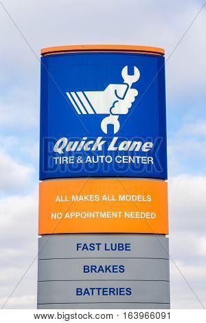 Quick Lane Auto Repair Sign And Logo