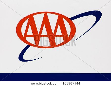 American Automobile Asociation Sign And Logo