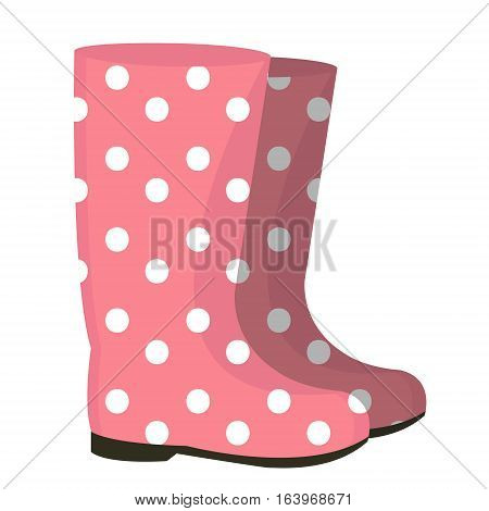 Rubber boots icon. Gumboots isolated on white background. Wellingtons vector illustration