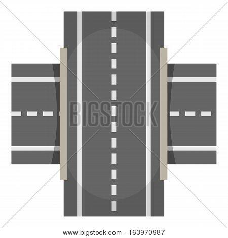 Crossway icon. Cartoon illustration of crossway vector icon for web design