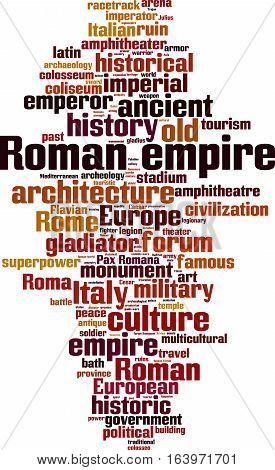 Roman empire word cloud concept. Vector illustration