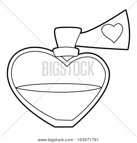 Love potion icon. Outline illustration of love potion vector icon for web