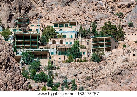 Chak Chak mountain village in Iran holy place for Zoroastrians