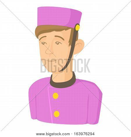 Doorman icon. Cartoon illustration of doorman vector icon for web