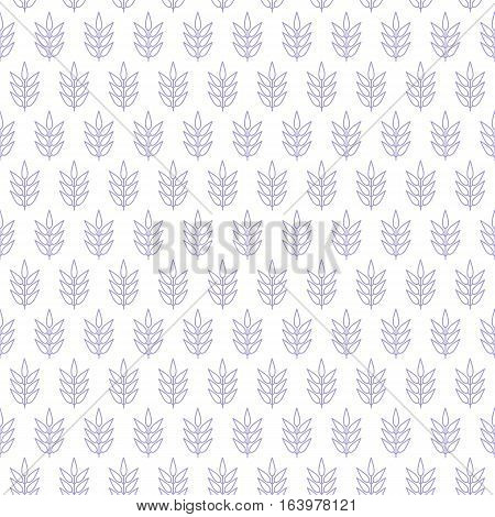 a seamless background decorated with stalks of leaves in soft color