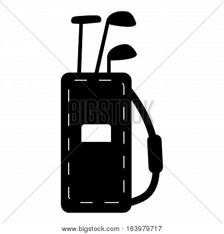Bag for golf clubs icon. Simple illustration of bag for golf clubs vector icon for web