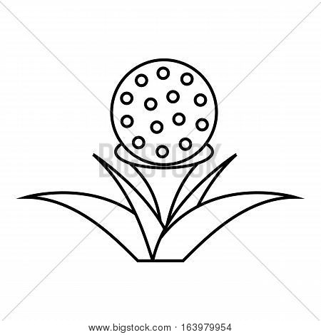 Stand for golf ball icon. Outline illustration of stand for golf ball vector icon for web