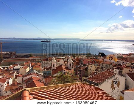 View from the higher part of Lisbon, Portugal