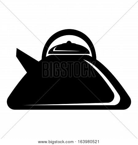 Heating kettle icon. Simple illustration of heating kettle vector icon for web