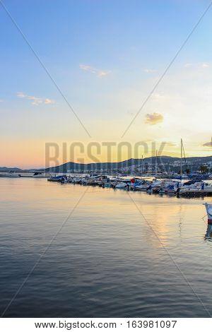 Amazing photography of the sunset at Kavala, Greece