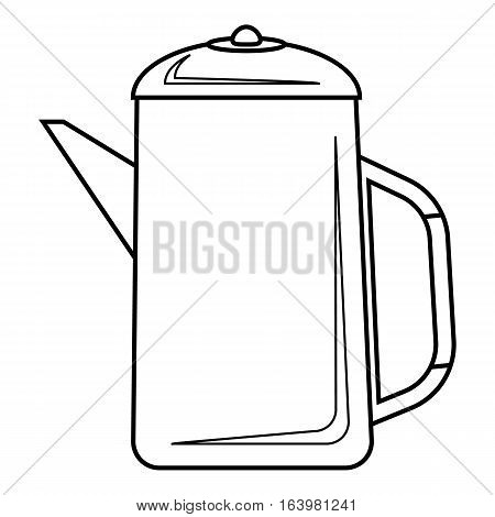 Metal kettle icon. Outline illustration of metal kettle vector icon for web