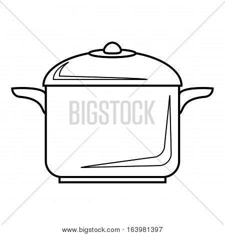 Pan for cooking icon. Outline illustration of pan for cooking vector icon for web