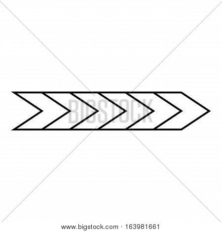 Pointer arrow icon. Outline illustration of pointer arrow vector icon for web