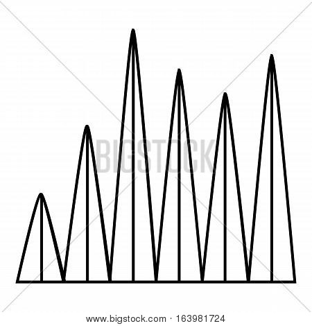 Line graph icon. Outline illustration of line graph vector icon for web