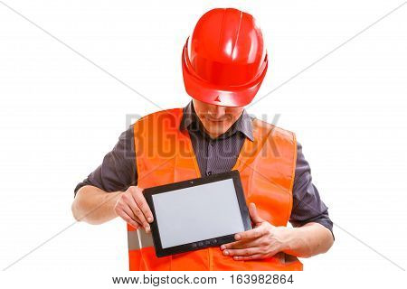 Male Worker With Tablet.
