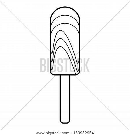 Creamy ice cream icon. Outline illustration of creamy ice cream vector icon for web