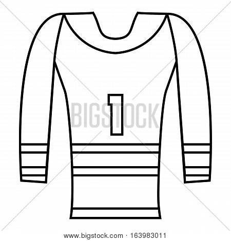 Hockey armor icon. Outline illustration of hockey armor vector icon for web