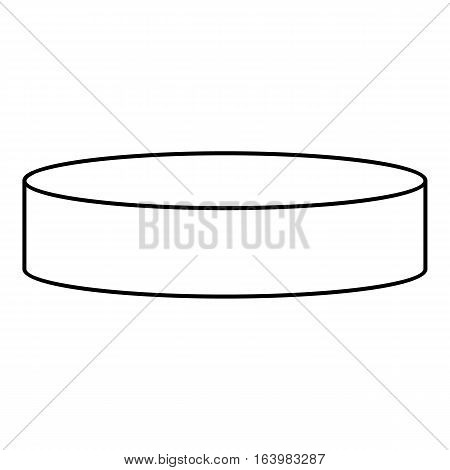 Hockey puck icon. Outline illustration of hockey puck vector icon for web