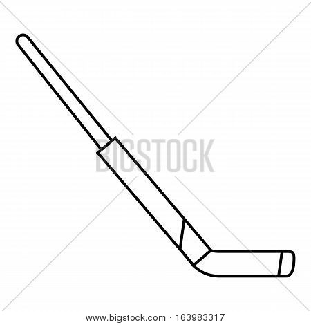 Hockey stick icon. Outline illustration of hockey stick vector icon for web