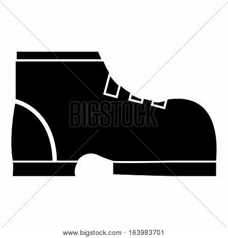 Men winter boot icon. Simple illustration of men winter boot vector icon for web