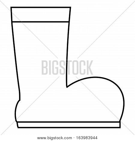 Winter ugg boots icon. Outline illustration of winter ugg boots vector icon for web