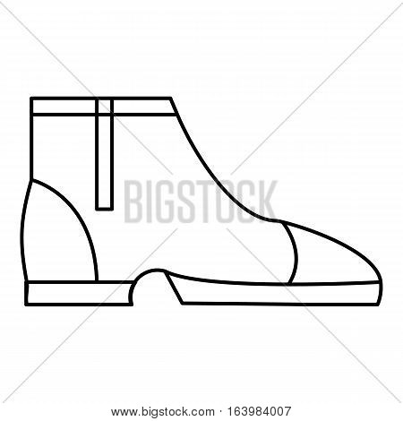 Men boots icon. Outline illustration of men boots vector icon for web