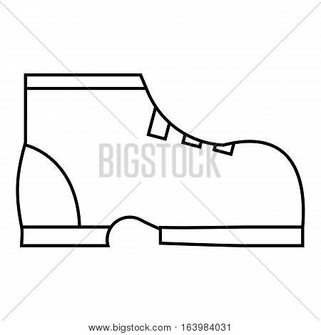 Men winter boot icon. Outline illustration of men winter boot vector icon for web