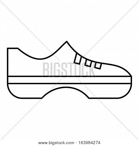 Women sneakers icon. Outline illustration of women sneakers vector icon for web