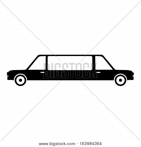 Limousine icon. Simple illustration of limousine vector icon for web
